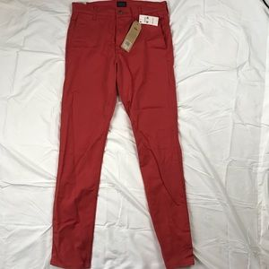 New Red Levi's 511 Slim Fit Trousers 32x34